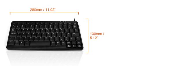 K82A mini keyboard dimensions