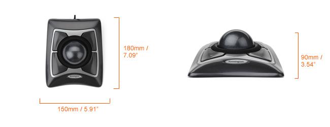 Kensington Expert Trackball mouse dimensions