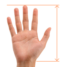 Hand measurement guide for Contour mouse
