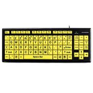 Key Monster 2 Hi-Vis Upper Case USB Keyboard - Black Font