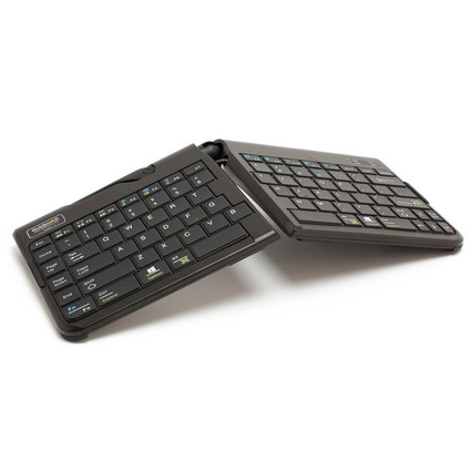 Goldtouch Go portable ergonomic keyboard angled