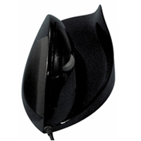 Front view of AirO2bic mouse left hand in black