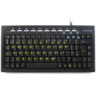 Accuratus Mini Keyboard with HiVis Yellow Font Keys