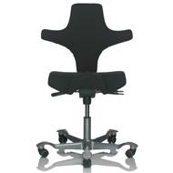 HAG Capisco  8106 Saddle Chair with Backrest - Black