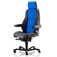 KAB K4 Premium Control Room Chair - Black/Navy Blue