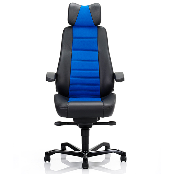 Front view of KAB Controller chair in Xtreme Costa fabric