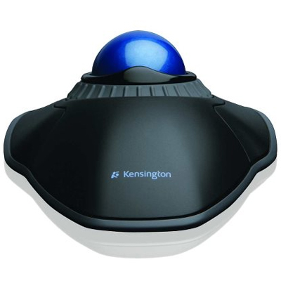 rear view of Kensington optical trackball mouse