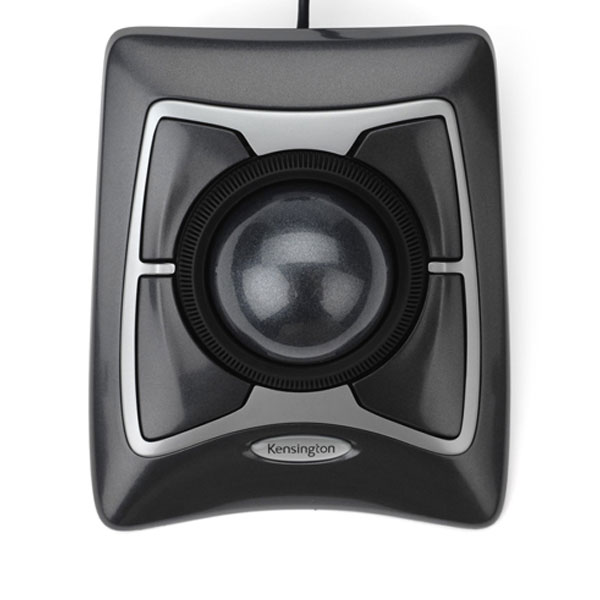 Top view of Kensington Expert Optical Trackball mouse