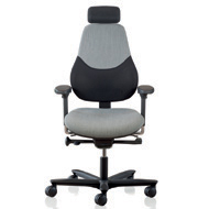 FLO High Back Armchair With Headrest - Extreme Plus Black