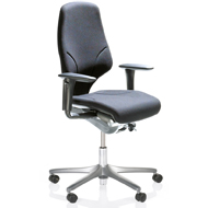 Orangebox G64 Highback Swivel Armchair - Black
