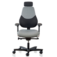 FLO Mid Back Posture Chair Built In Lumbar Support & 4D