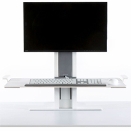 Humanscale QuickStand - White Light Mount - Large Platform
