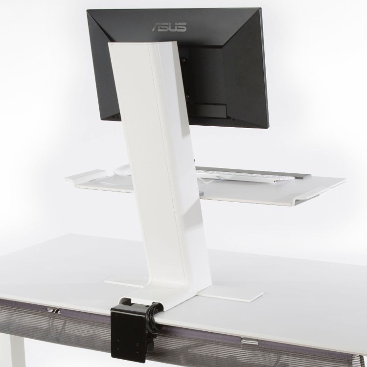 Rear of Humanscale QuickStand with large platform
