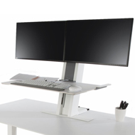 Humanscale QuickStand - Black, Large Platform & Dual Monitors