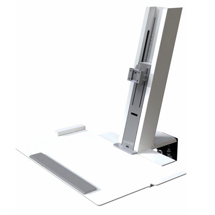 Humanscale QuickStand with large platform in white