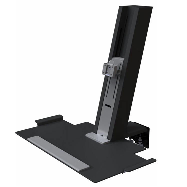 Humanscale QuickStand in black with small platform