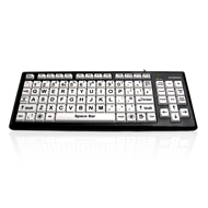 Key Monster 2 Keyboard Upper Case - Black Font / White Keys