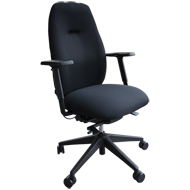 Embrace Posture Chair Large Seat and Back - Black