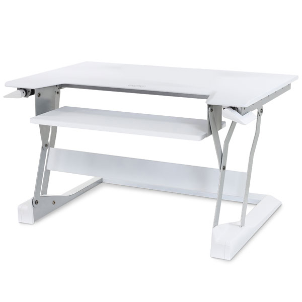 Ergotron Workfit-T Sit Stand Desktop Solution - White
