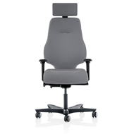 Spira Plus High Back Posture Armchair with headrest - Black