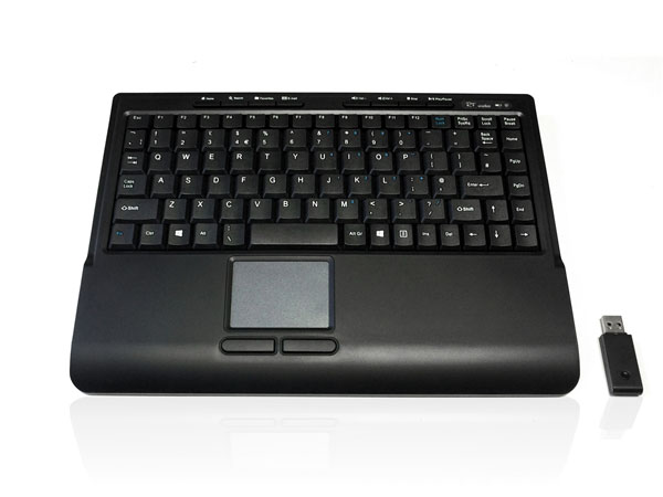Accuratus 540 RF Wireless Mini Keyboard with Touchpad - Black