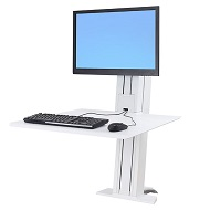 Ergotron Workfit-SR Sit Stand Desk Mount - White