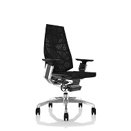 Genidia Posture Chair with Arms - Black Mesh