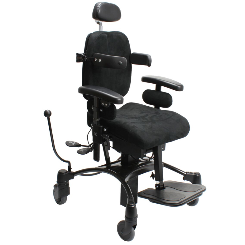 VELA Tango 100ES Childrens chair with headrest, footrest, body and thigh supports